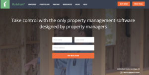 A screenshot of the property management software Buildium, which can be used to collect rent online.